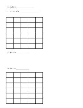 Grade 5 GO Math: Chapter 1 Review Sheet