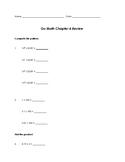 Grade 5 GO Math Chapter 4 Review Sheet