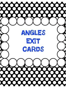 Grade 5 Geometry Ontario Curriculum Exit Cards