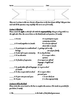 Grade 5 Government Test!