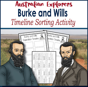 Australian Explorers– Burke and Wills – Timeline Sorting Activity