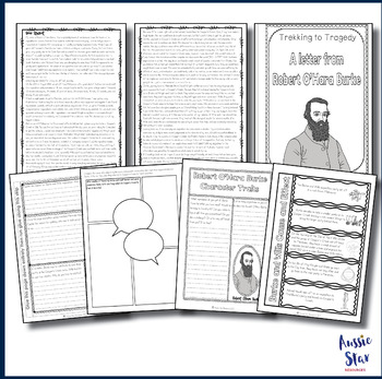Australian Explorers– Burke and Wills – Comprehension Activity Pack