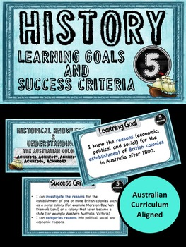 Grade 5 HISTORY – All AC Descriptors Learning Goals & Success Criteria Posters.