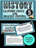 Grade 5 HISTORY – All AC Descriptors Learning Goals & Success Criteria Posters.