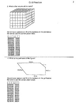 5th Grade STAAR: New Grid Practice Test (60 griddable problems and more)