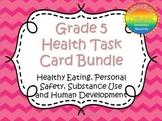 Grade 5 Health Task Cards Bundle