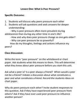 Grade 5 Health - Understanding Peer Pressure