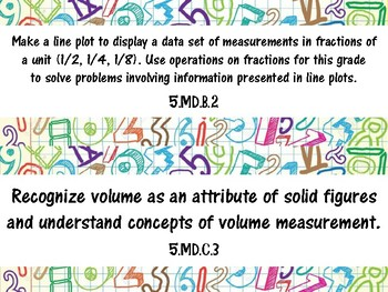 """Grade 5 """"I Can"""" Math Common Core State Standards"""