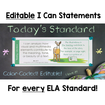 Common Core Standards I Can Statements for 5th Grade Bundle