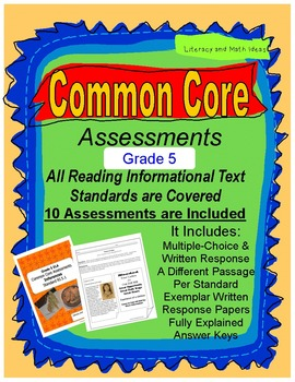 Grade 5 Informational Text Common Core Assessments