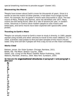 Grade 5 Language Arts FSA (LAFS) Quiz Reading Standards for Informational Text -