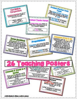 Grade 5 Language Task Card Bundle