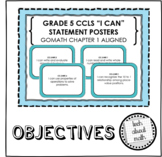 Grade 5 Learning Objectives - GOMath Chapter 1 Aligned