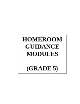 Grade 5 Level Homeroom Guidance Module