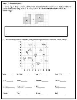 Grade 5 Location & Movement Assessment