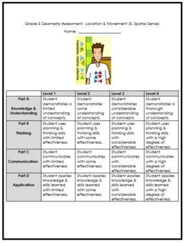 Grade 5 Location & Movement Assessment