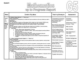 Grade 5 Long Range Plans - Ontario