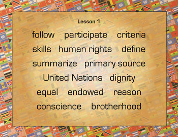 Grade 5 MOD1 Unit 1 VOCAB: BUILDING BACKGROUND KNOWLEDGE ON HUMAN RIGHTS