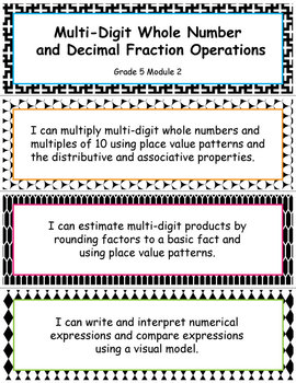 Grade 5 MODULE 2: Multi-digit Whole Number & Decimal Fraction, I CAN Statements