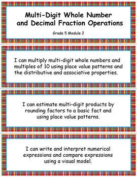 Grade 5 MODULE 2: Multi-digit Whole Number & Decimal Fraction, I CAN Statements