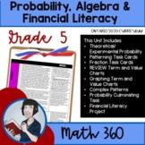 Grade 5 Math Algebra, Probability Unit 8 (Ontario Math Curriculum 2020)