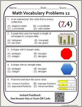 Math Practice and Review Activities for 5th Grade Bundle