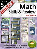 5th Grade Math Skills Practice and Review Bundle