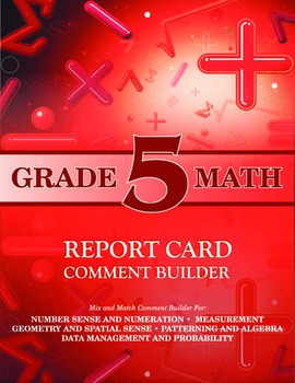 Grade 5 Math Comment Builder