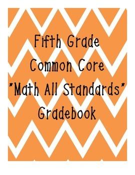 Grade 5 Math Common Core Standard Grade Book