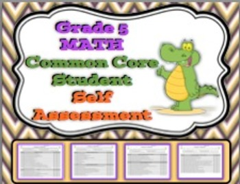 Grade 5 Math Common Core Student Self Assessment