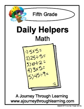Grade 5 Math Daily Helper Lapbook