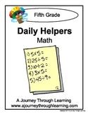 Grade 5 Math Daily Helper Lapbook