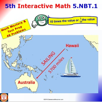 Grade 5 Math Interactive Animated Test Prep – 10 Times or