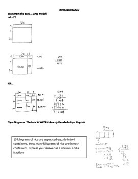 Grade 5 Math Major Concepts