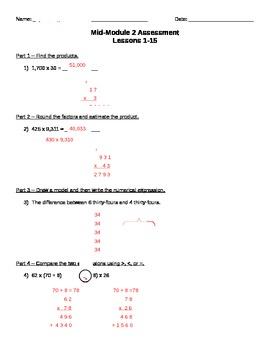 Math Module 2: Mid Unit Assessment