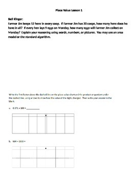 Grade 5 Math Module 1 Bell Ringers and Exit Tickets
