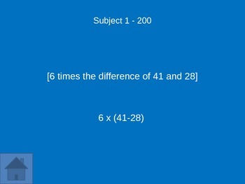 Grade 5 Math Module 2 Jeopardy Review