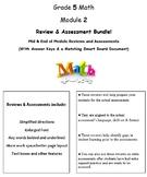 Grade 5, Math Module 2 REVIEW & ASSESSMENT w/Ans keys (printables & Smart Board)