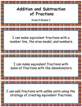 Grade 5 Math Module 3, Grade 5 Module 3: Addition and Subtraction of Fractions