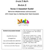 Grade 5, Math Module 3 REVIEW & ASSESSMENT w/Ans keys (pri