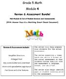 Grade 5, Math Module 4 REVIEW & ASSESSMENT w/Ans keys (pri