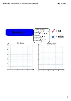Grade 5 Math Module 4 lesson 4 Battleship -Student Use