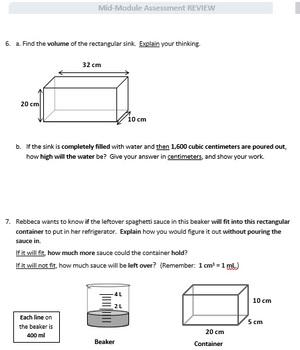 Grade 5, Math Module 5 REVIEW & ASSESSMENT Bundle w/keys (printables & Smart Bd)