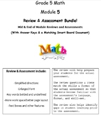Grade 5, Math Module 5 REVIEW & ASSESSMENT w/Ans keys (pri