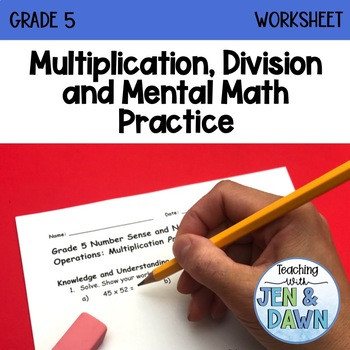 Grade 5 Math Multiplication and Division Practice