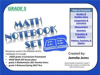 Grade 5 Math Notebook