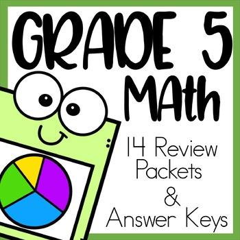 Grade 5 Math Review Bundle