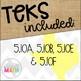 Grade 5 Math STAAR Test-Prep Task Cards FINANCIAL LITERACY Bundle!