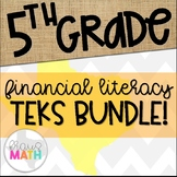Grade 5 Math STAAR Test-Prep Task Cards FINANCIAL LITERACY Bundle!