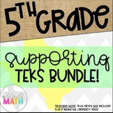 Grade 5 Math STAAR Test-Prep Task Cards SUPPORTING TEKS Bundle!